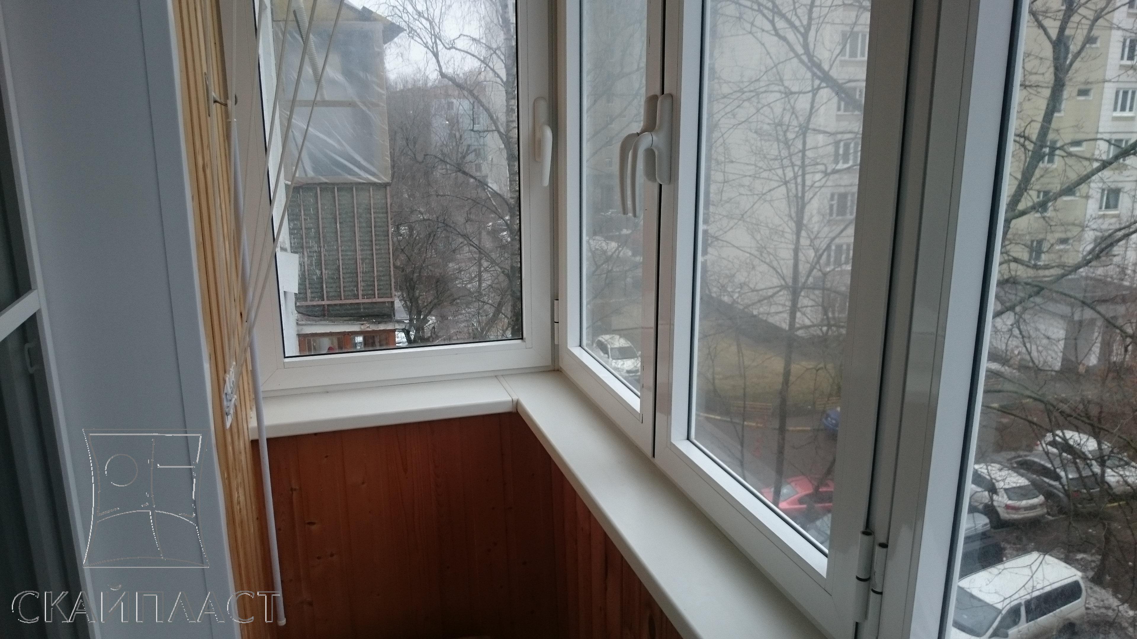Наши работы - скайпласт пластиковые окна в железнодорожном.