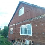 Остекление дома в деревне Ворыпаево